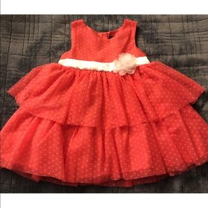 Pink polka dot toddler dress